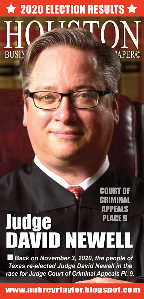 Our client Judge David Newell Defeated his Democratic challenger on November 3, 2020