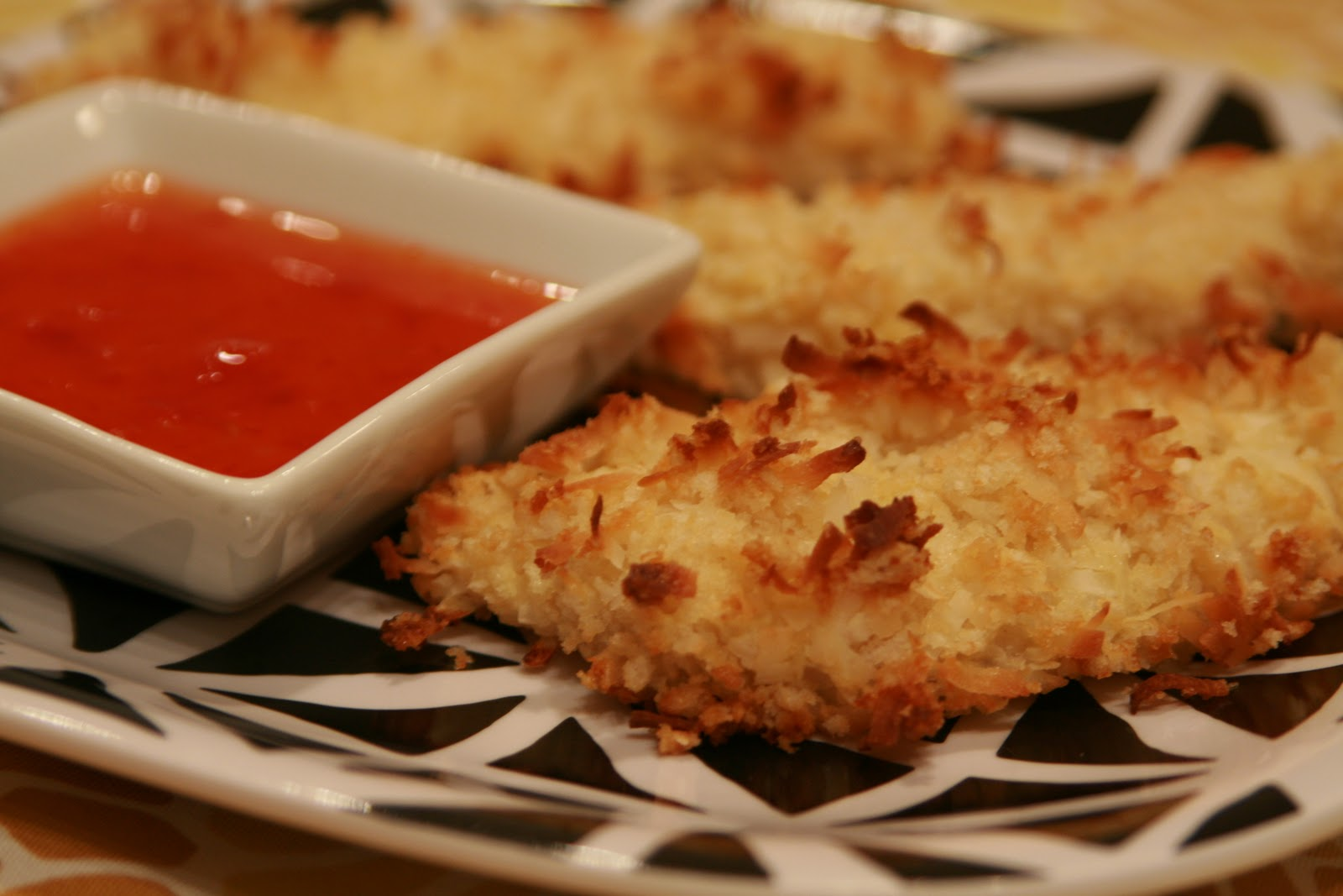 ... Bake & Decorate: Baked Coconut Chicken Tenders w/a Sweet Chili Sauce