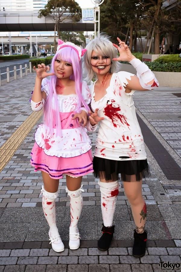 Pastel zombie couple