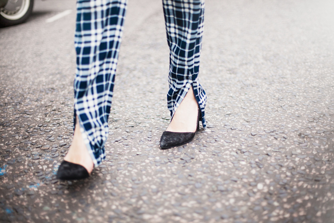 COTR | Joseph checkered pants front slit