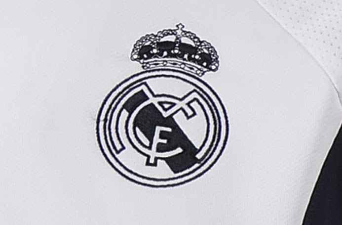 Logo Real Madrid Pada Jaket Terbaru Club Real Madrid GO 2014 - 2015