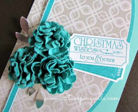 Trendy tickets with Christmas wishes for cards, tags, and gifts