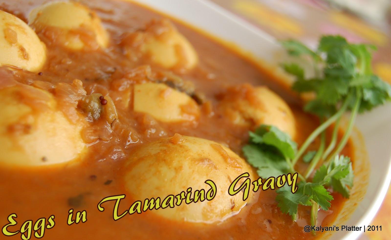 Kodi Guddu Pulusu | Egg in Tamarind Gravy | Kalyani's Platter