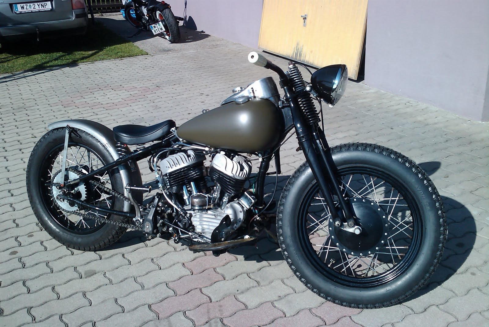 Bobber Cafe Racer Harley Davidson Hd Wallpaper 1080p: Harley Sportster Custom