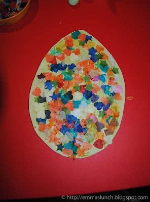 Easter crafts Collage Egg