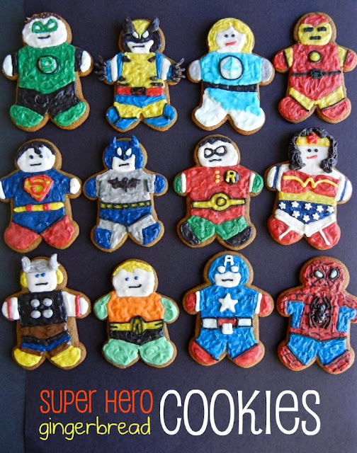 super hero gingerbread men and women