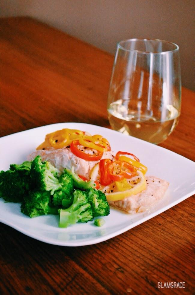 Salmon en Pailotte - recipe from Gervasi Vinyard, Chef Maxine Verbel