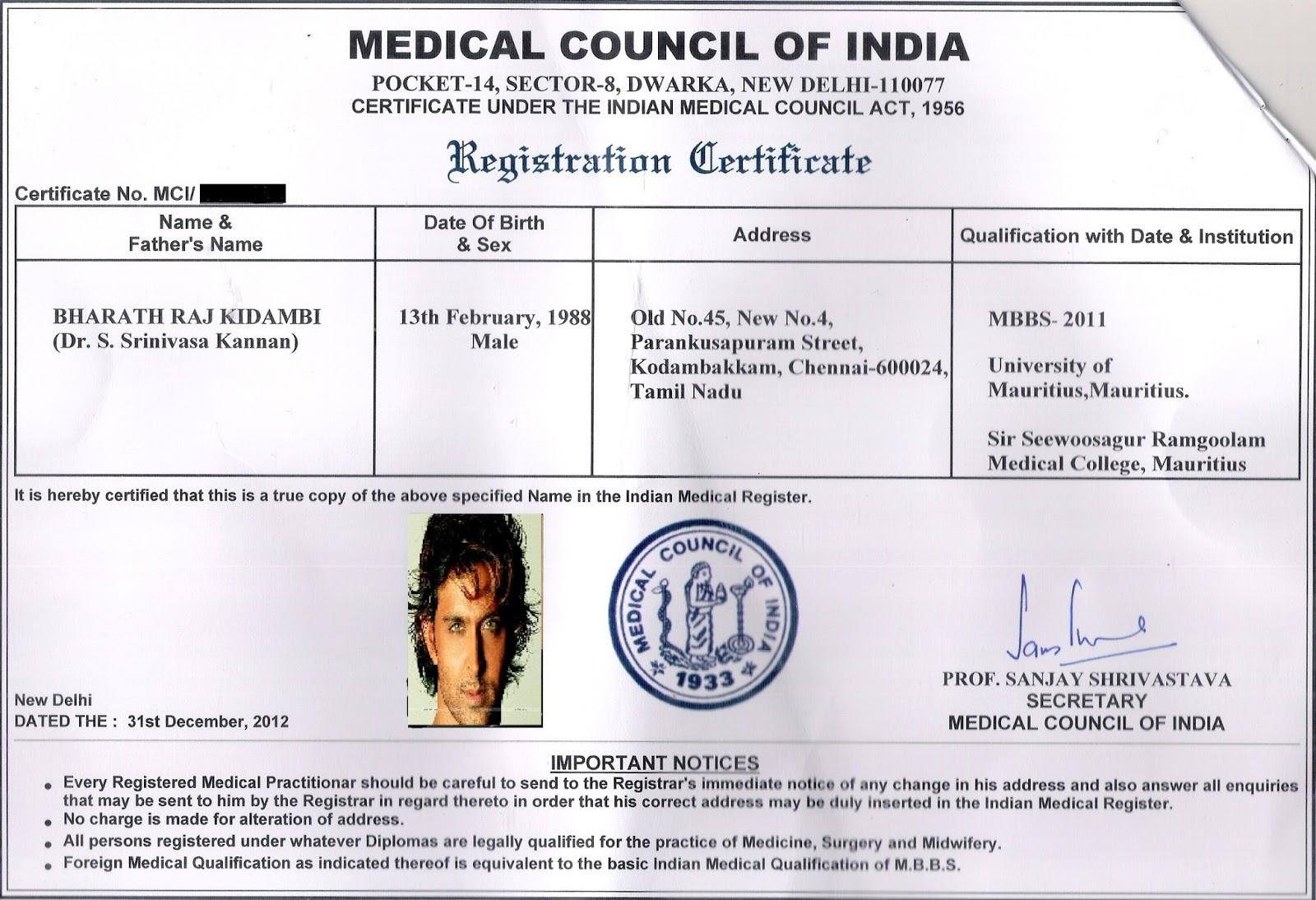 MCI Screening Test: Internship in India - MCI Permanent registration