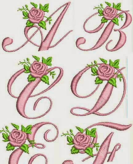 Dreams free embroidery rose alphabet