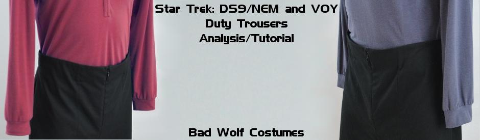 Star Trek: DS9/NEM and VOY Pants Analysis/Tutorial