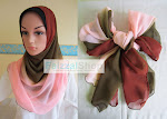 SHAWL HALF MOON PLAIN 3 TONE