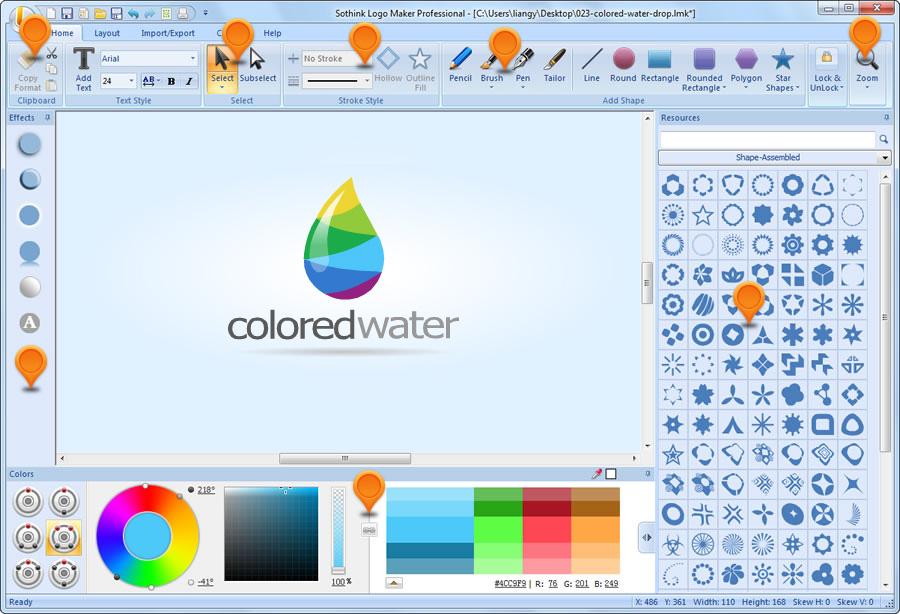 تحميل برنامج صناعة اللوجو والشعارات Sothink Logo Maker
