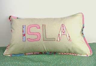 Pink personalised cushion