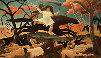 Henri Rousseau 'War or the Cavalcade of Discord' - Dreams & Reality Exhibition, National Museum of Singapore