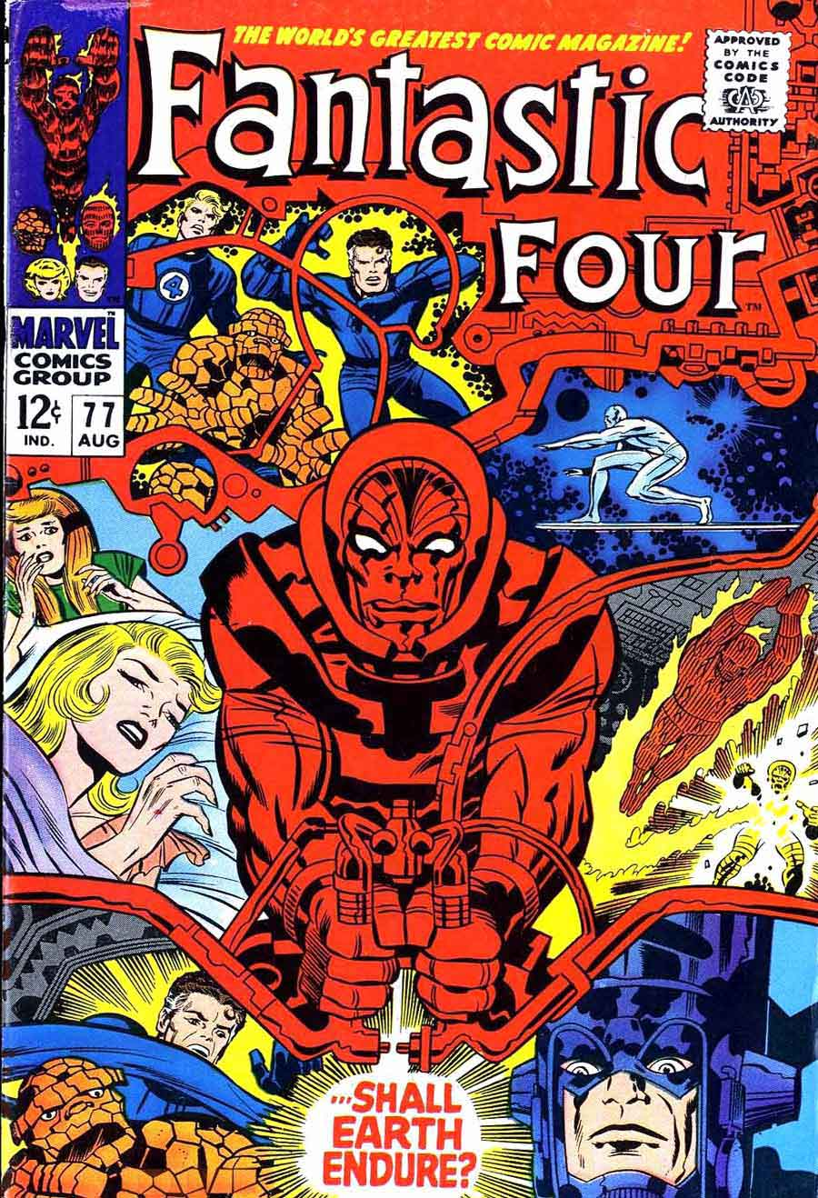 fantastic four   jack kirby art  cover  pencil ink - fantastc four v  marvel s silver age comic book cover art by jackkirby