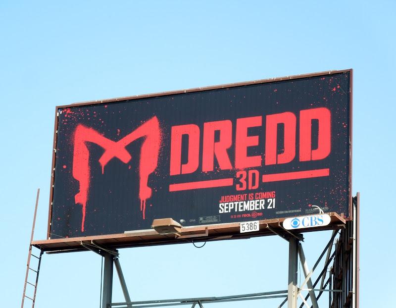 Dredd 3D teaser billboard
