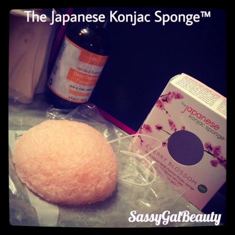 The Japanese Konjac Sponge:  Cherry Blossom
