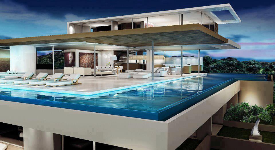 construindo minha casa clean piscina de concreto vinil