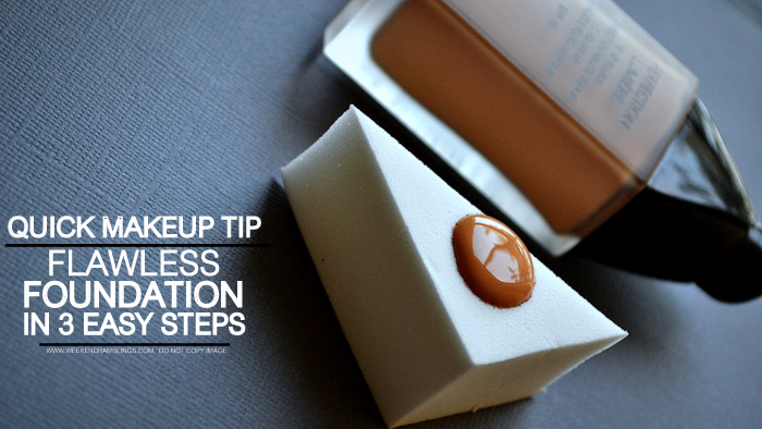 Makeup Tips How to Apply Foundation in 3 Easy Steps