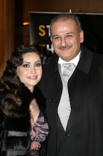صورة الفنان السوري جمال سليمان وزوجته