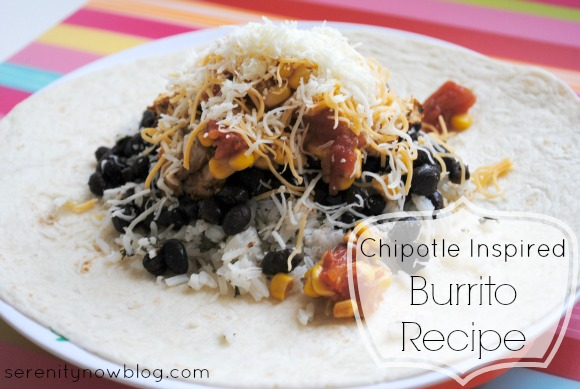 Chipotle Inspired Burrito Recipe, at Serenity Now