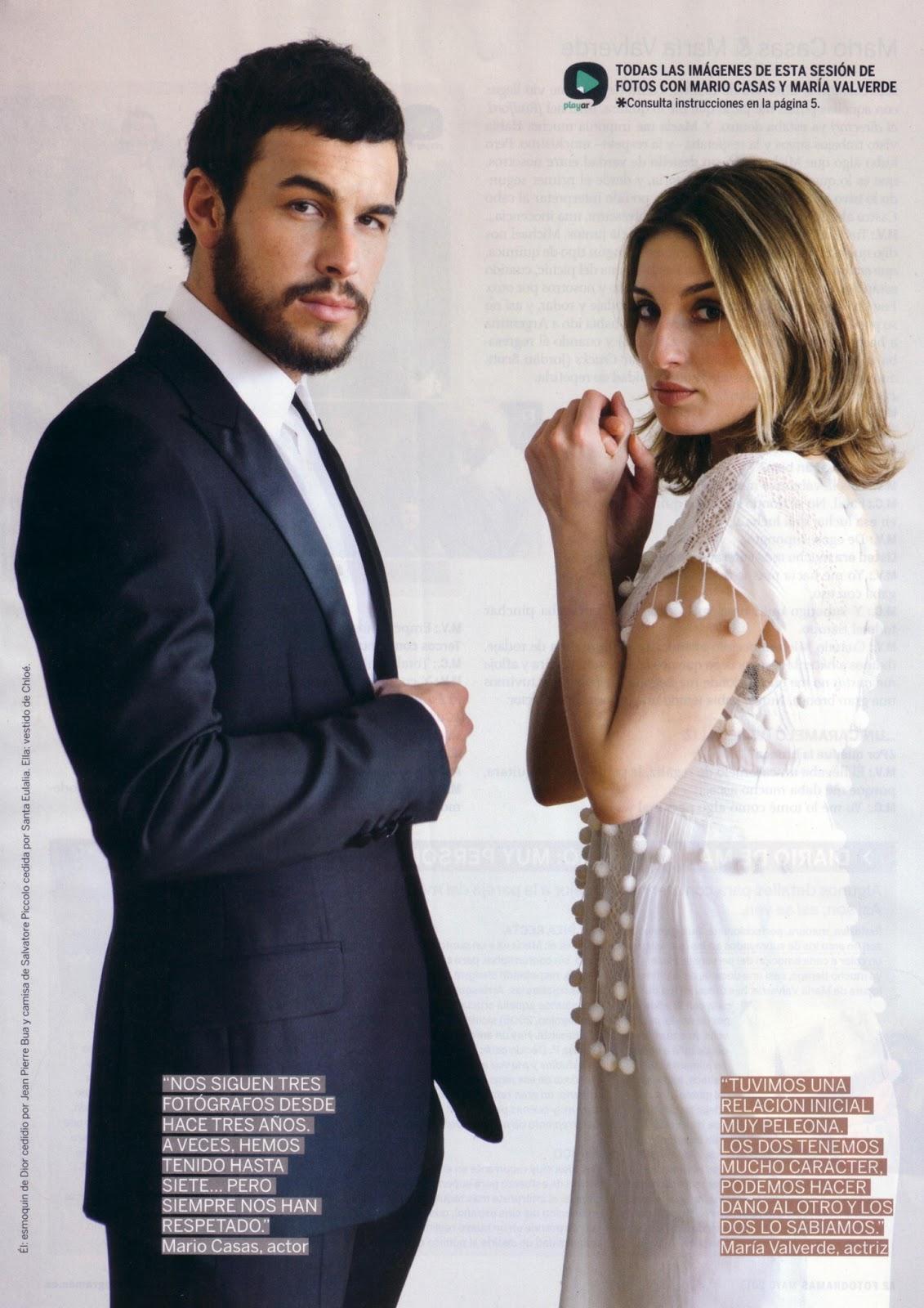 Mario Casas: Mario Casas y María Valverde en la revista Fotogramas