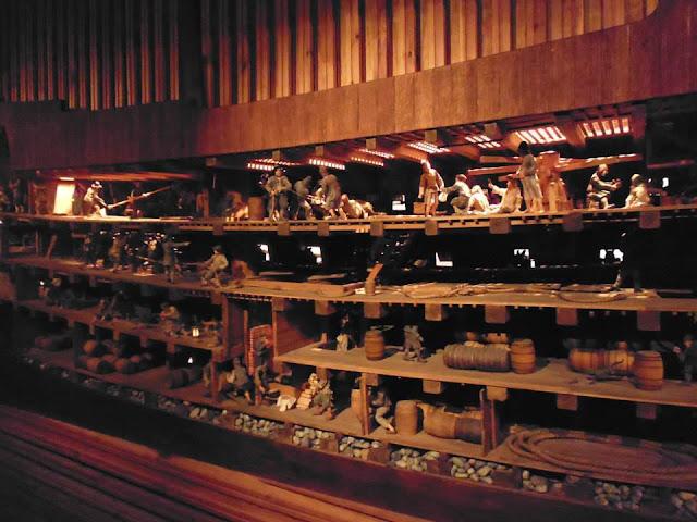 Maqueta del interior del Vasa