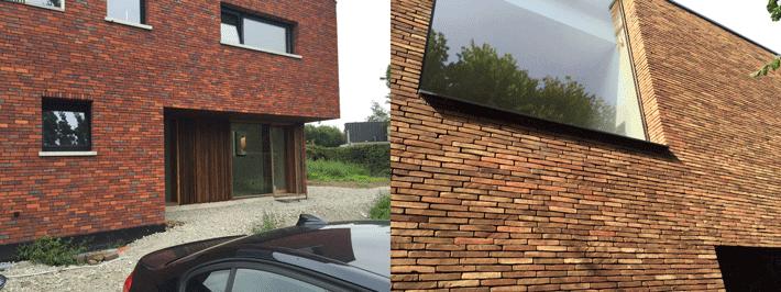 Onze duurzame schuurwoning in de wijk op zoek naar het juiste gevelmateriaal - Modern stenen huis ...