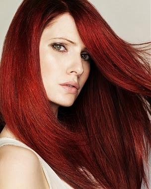 pelo en rojo oscuro estilo imagen y m s
