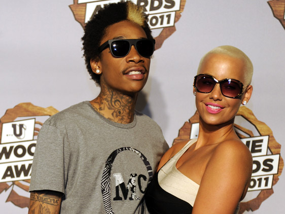 wiz and amber rose. wiz khalifa and amber rose