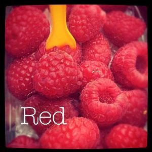 red instagram image