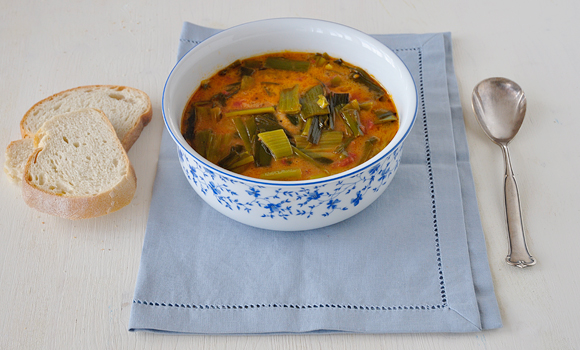 Leek and Tomato Soup