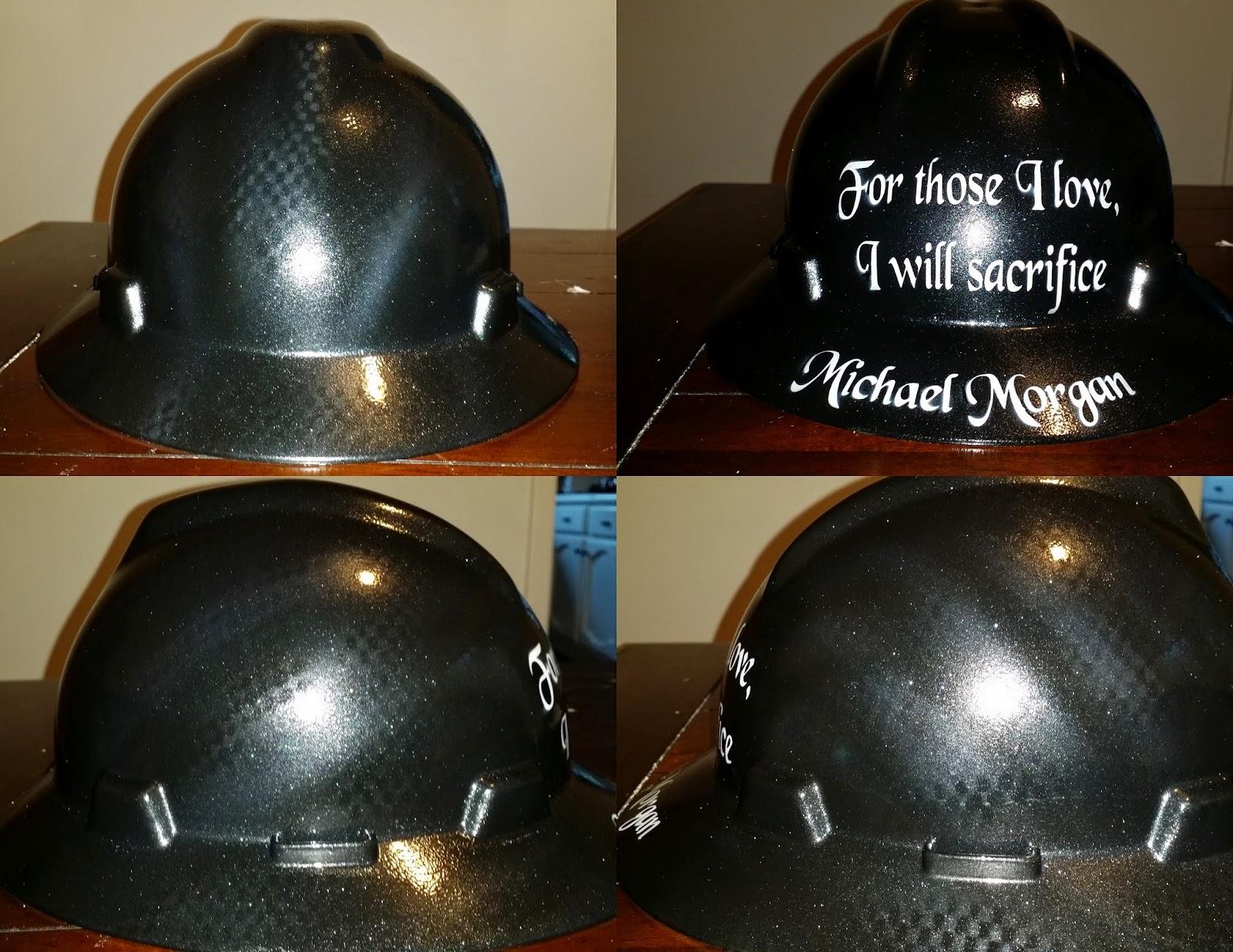 carbon fiber hard hat paint job