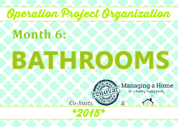 Bathroom Organization Updates. Tips for starting your organization in the bathroom.