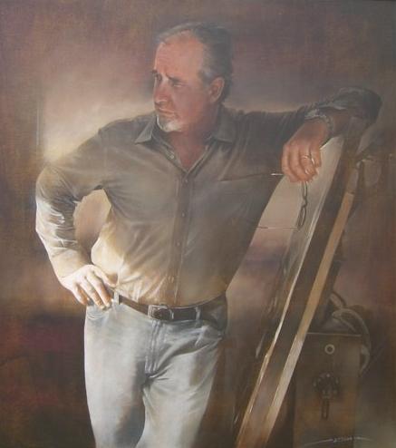 Antonio Sgarbossa 1945 | Italian Figurative painter - Self Portrait