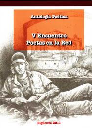 Antología poetica editada en el libro de la imagen del V Encuentro de Poetas en la Red en Sigüenza
