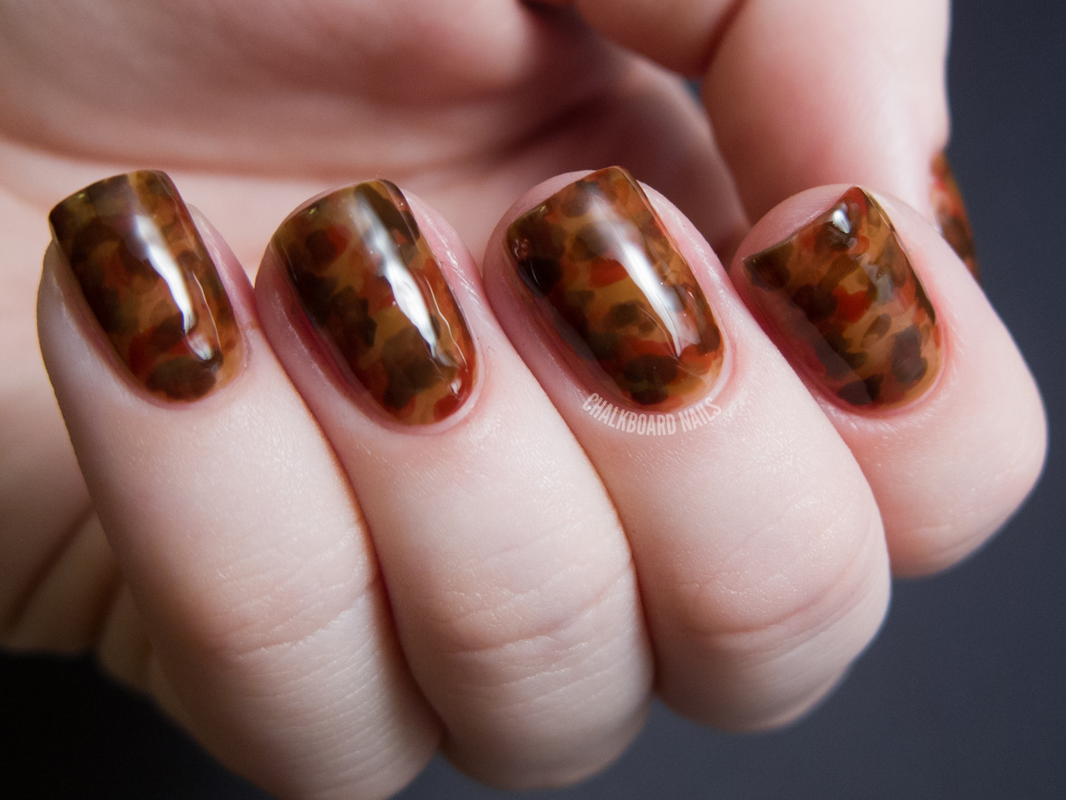 ... my tortoiseshell nail art. Here's the final product from the video