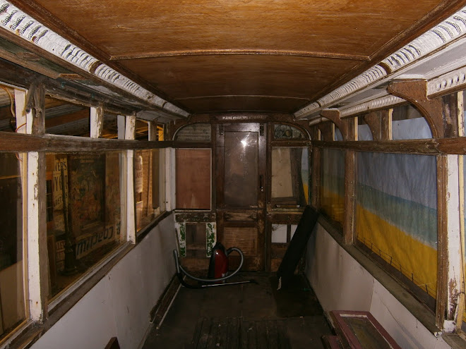 Inside a Hastings tram.