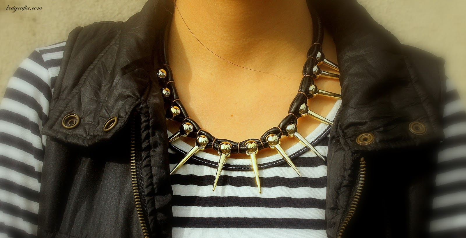 sugar-rush spiked necklace