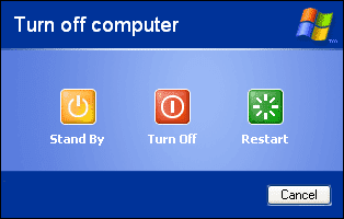 enable standby pada windows xp