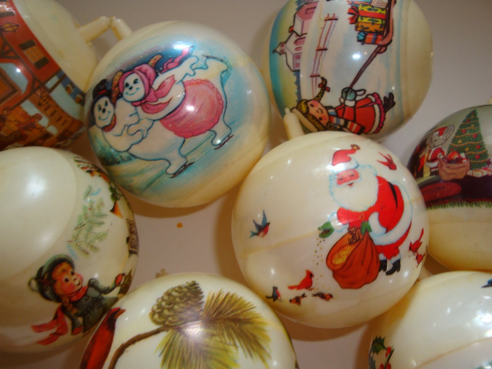 vintage scenic christmas ornaments - Vintage Christmas Ornaments For Sale
