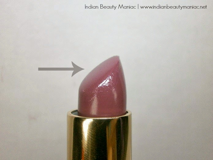 Oriflame Giordani Gold Lips Lipstick in Mauve Dream bullet images swatches and review