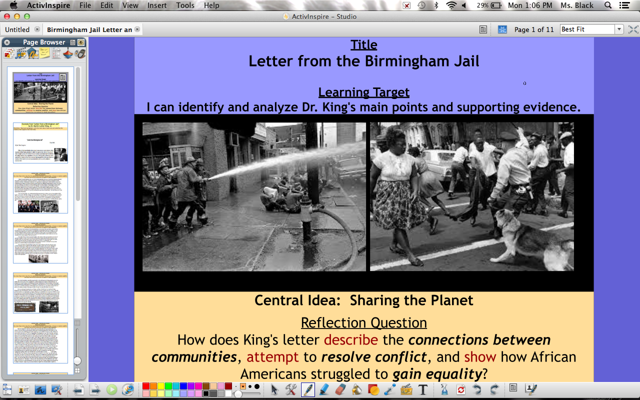 an analysis of the letter from birmingham jail by martin luther king jr