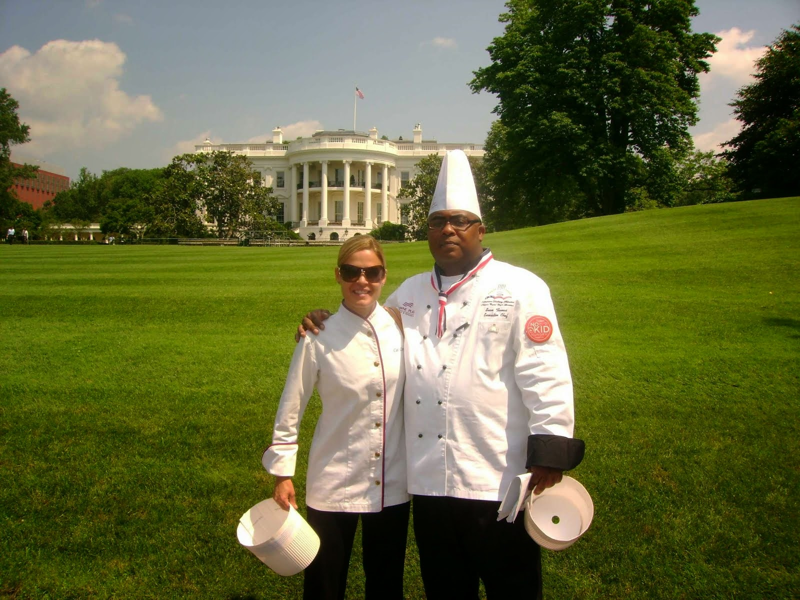 At The White House with Chef Cat Cora