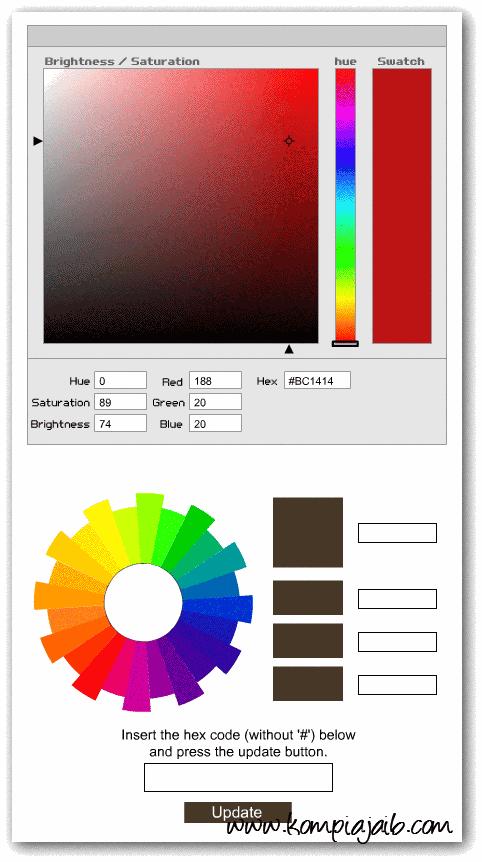 Tool kode warna