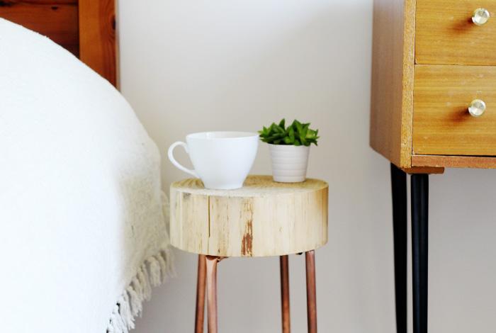 Progetto diy tavolino in legno e tubi di rame blog di arredamento e interni dettagli home decor Diy home decor blog uk