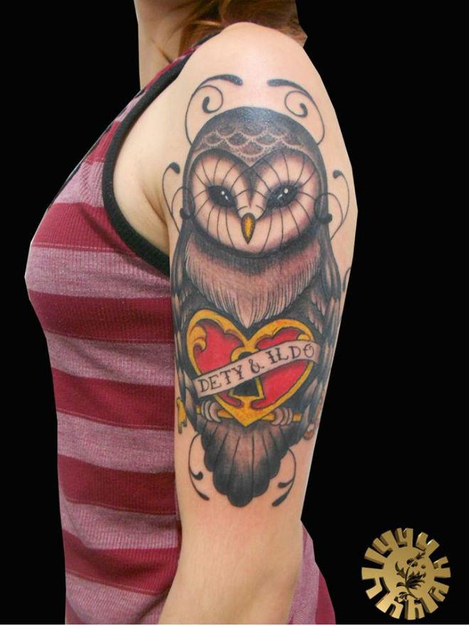 Tatuagem Coruja No Braço