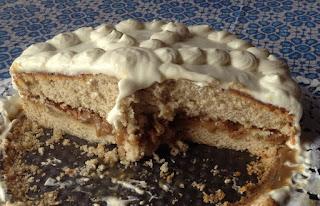 Tarta especiada con nueces de pecán, receta