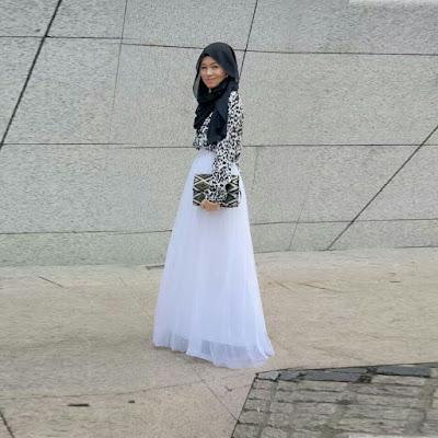 Model Rok Panjang Muslimah Bahan Sifon Import