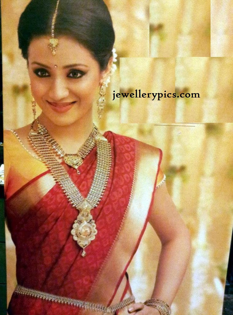 Trisha in South Indian Bridal jewellery from NAC jewellers ...